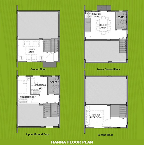 Hanna Floor Plan House and Lot in Indang