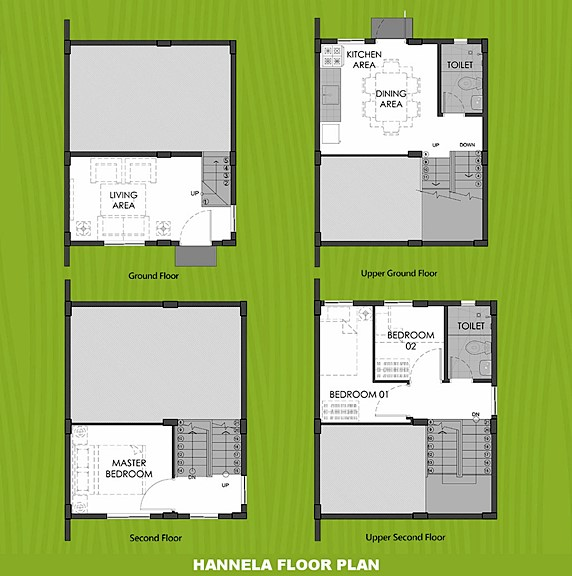 Hannela Floor Plan House and Lot in Indang