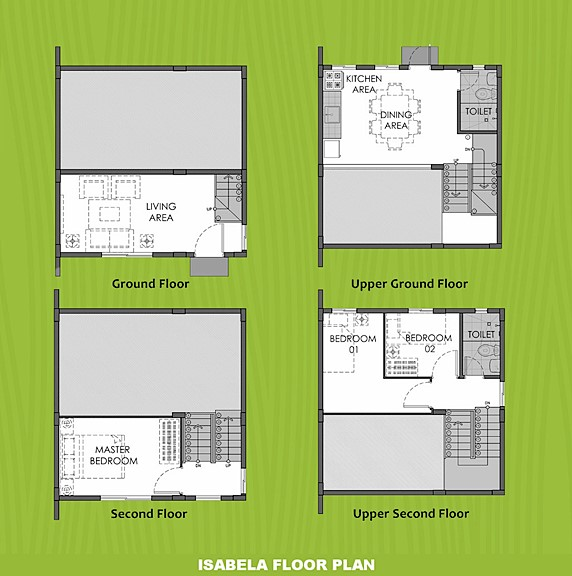 Isabela Floor Plan House and Lot in Indang
