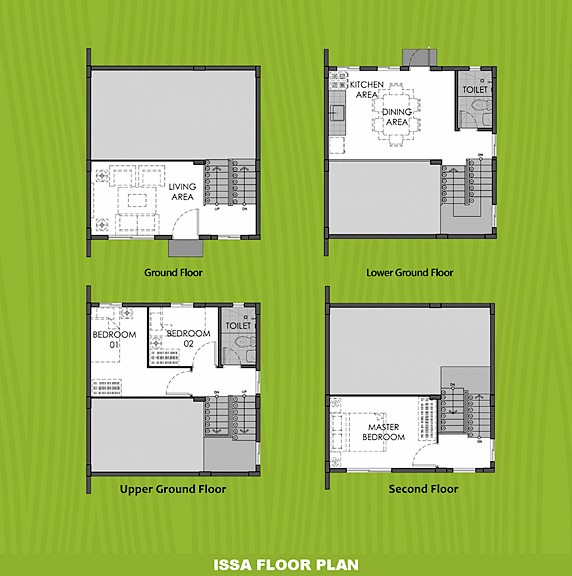 Issa Floor Plan House and Lot in Indang