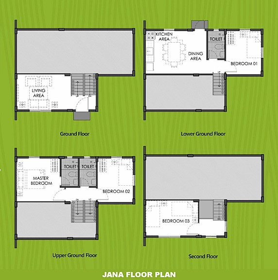 Janna Floor Plan House and Lot in Indang