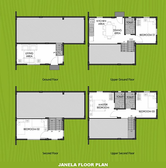 Janela Floor Plan House and Lot in Indang