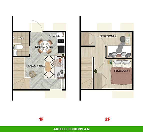 Arielle Floor Plan House and Lot in Indang