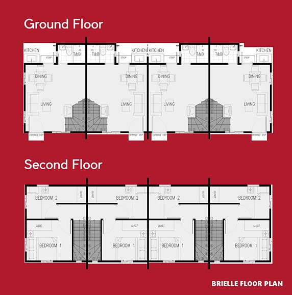 Brielle Floor Plan House and Lot in Indang