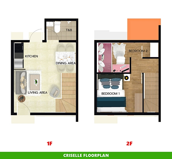 Criselle Floor Plan House and Lot in Indang