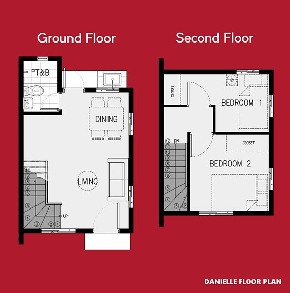 Danielle Floor Plan House and Lot in Indang