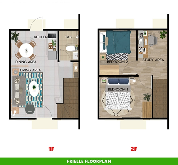 Frielle Floor Plan House and Lot in Indang